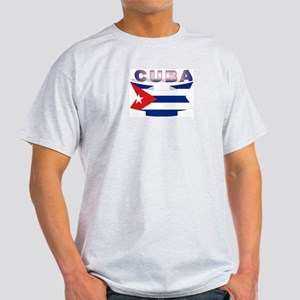 Cuba flag ribbon Ash Grey T-Shirt